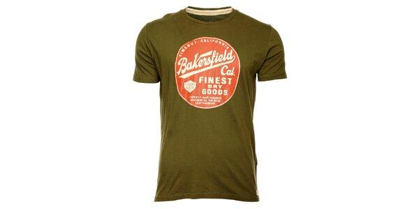 Pánské khaki tričko Timeout