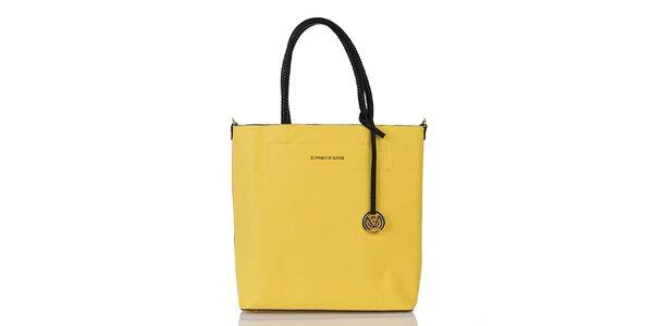 Dámská žlutá kabelka s vnitřní taštičkou Giorgio di Mare