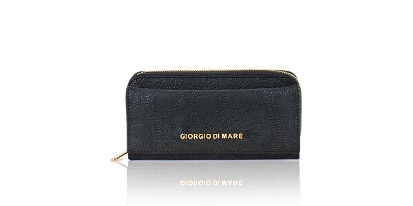 Dámská černá peněženka s dekorativním vzorem Giorgio di Mare