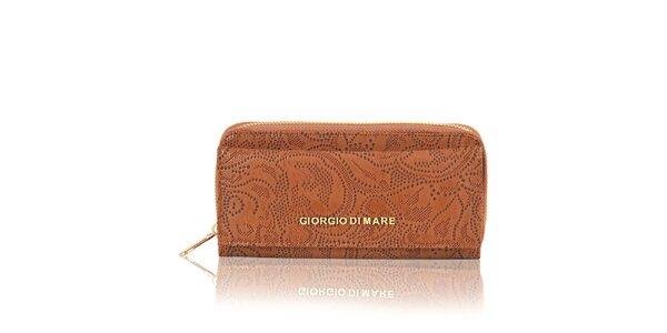 Dámská světle hnědá peněženka s dekorativním vzorem Giorgio di Mare