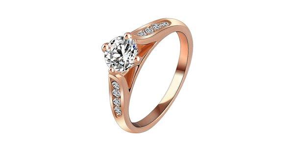 Dámský zlacený prsten s krystaly Victoria de Bastilla