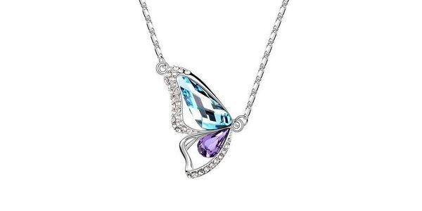 Dámský motýlkový náhrdelník s krystaly Victoria de Bastilla
