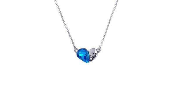 Dámský náhrdelník s modrým krystalkem Victoria de Bastilla