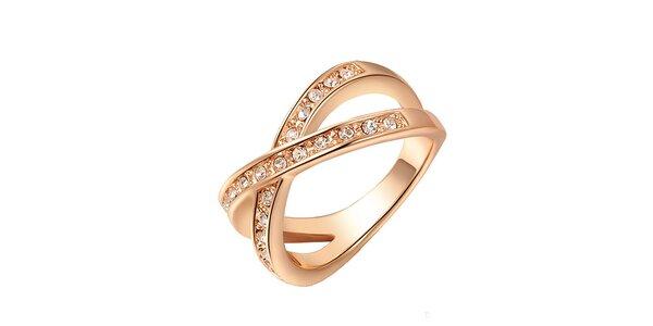 Dámský pozlacený prsten s krystalky Victoria de Bastilla