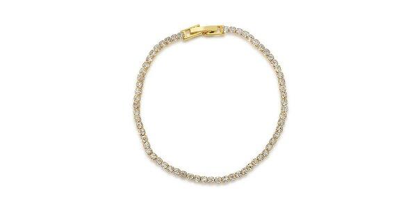 Dámský pozlacený náramek s bílými krystaly Victoria de Bastilla