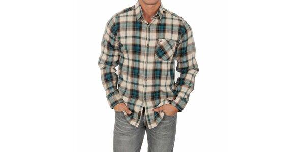 Pánská vzorovaná košile s dlouhým rukávem Marlboro Classics