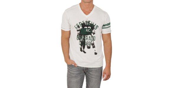 Pánské bílé triko s potiskem Marlboro Classics