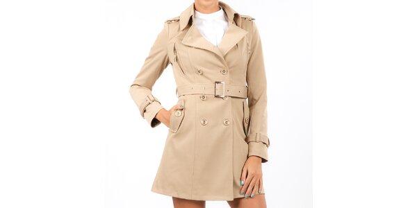 Dámský béžový dvouřadý kabát Isabel Queen