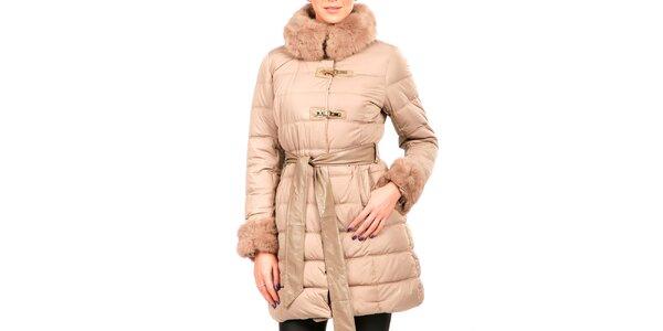 Dámský tělový prošívaný kabátek s kožešinkou Isabel Queen 1d8d7e8ea4