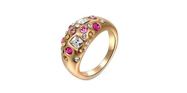 Dámský prstýnek s několika barevnými krystalky Victoria de Bastilla
