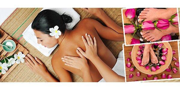 Výběr ze tří variant masáže-záda a šíje, záda a nohy nebo Breussova masáž páteře