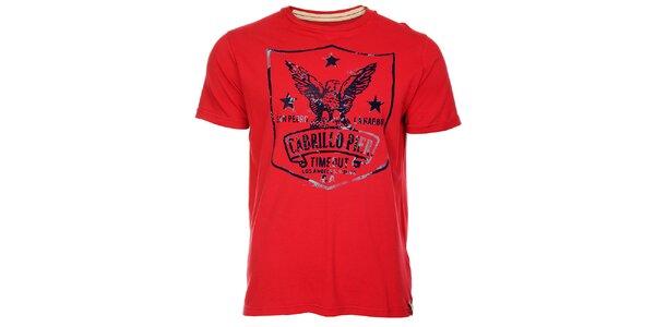 Sytě červené pánské tričko Timeout