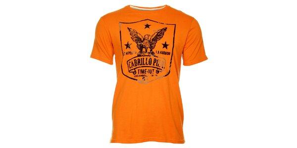 Oranžové pánské tričko Timeout