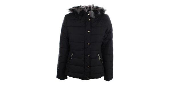 Dámská černá zimní bunda s kapucí Bilin