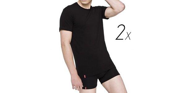 Set dvou černých pánských triček z bavlny Levi's