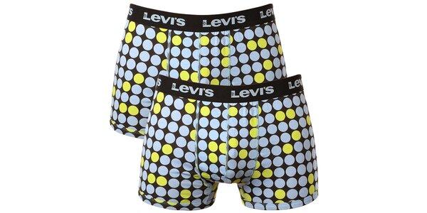 Set 2 pánských puntíkatých boxerek Levi's