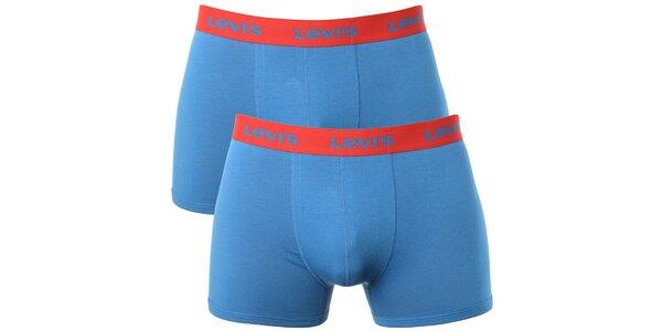 Set 2 pánských modro-červených boxerek Levi's