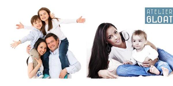 Fotografování a rodinná fotokniha z ateliéru