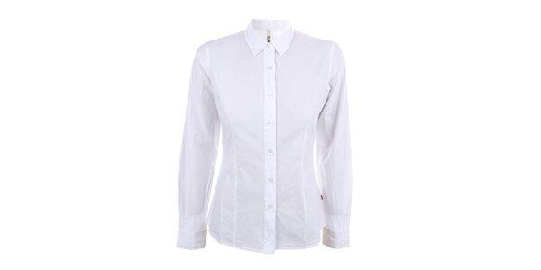 Dámská bílá košile s dlouhým rukávem Big Star