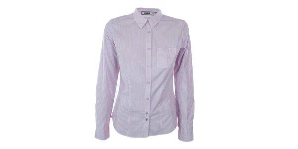 Dámská šedo-bíle pruhovaná košile Big Star