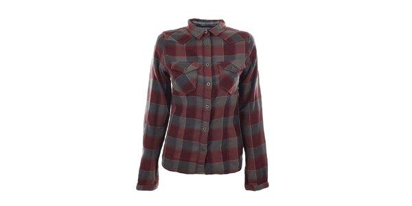 Dámská šedovínová kostkovaná košile Fuga