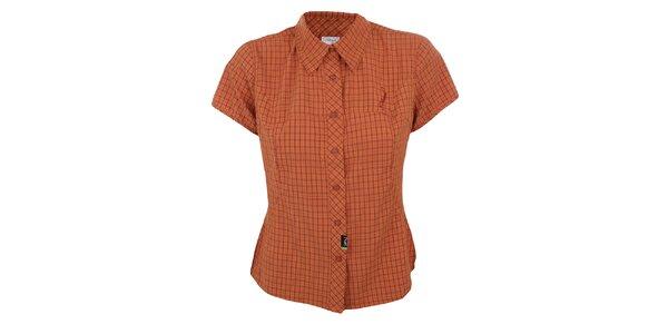 Dámská oranžově kostkovaná košile Hannah