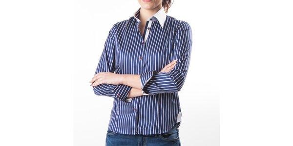 Dámská tmavě modrá košile s proužky Lexa Slater 5008f4d121