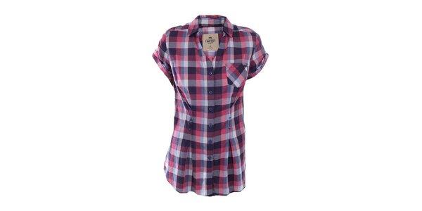 Dámská barevně kostkovaná košile s kapsou Timeout 947a507217