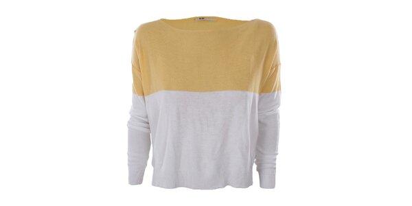 Dámský žluto-bílý svetřík Big Star