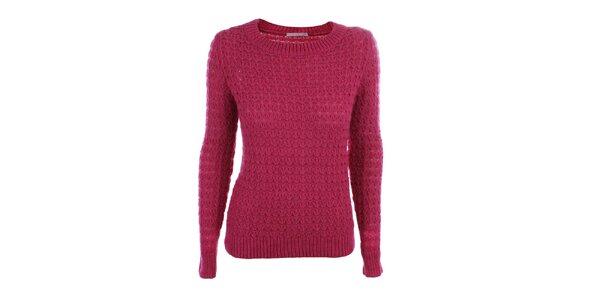Dámský růžový pletený svetr Phard
