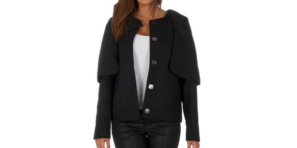 Dámský černý krátký kabátek Vero Moda