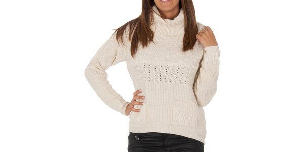 Dámský vzorovaný svetr s kapsami Vero Moda
