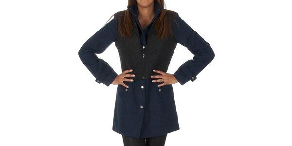 Dámský tmavě modrý kabát s černou vestičkou Vero Moda