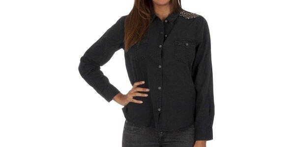 Dámská černá košile s dekorací Vero Moda
