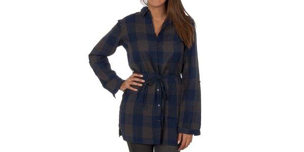 Dámská modro-šedě kostkovaná košile Vero Moda
