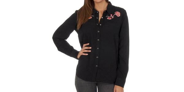 Dámská černá košile s květinou Vero Moda