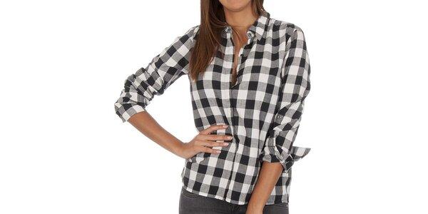 Dámská černo-bíle kostkovaná košile Vero Moda