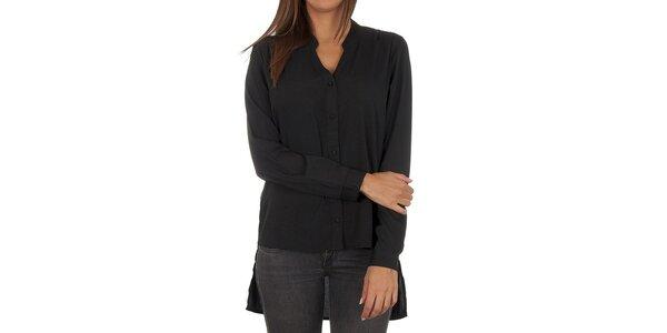Dámská černá košile s prodlouženým zadním dílem Vero Moda