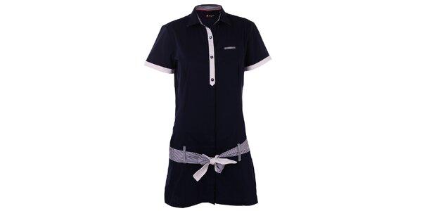 Dámské tmavě modré košilové šaty 7camicie