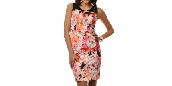 Dámské šaty s barevnými květinami Dia Vynne