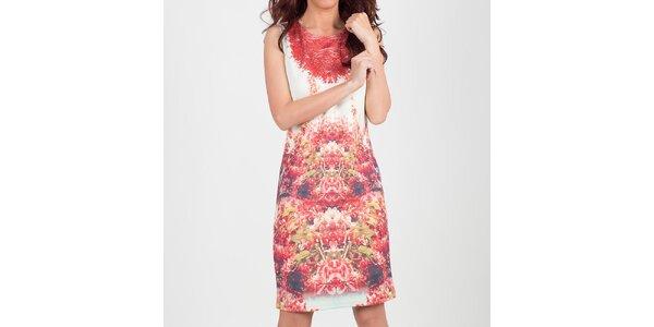 Dámské bílé šaty s květinovým vzorkem Chaser