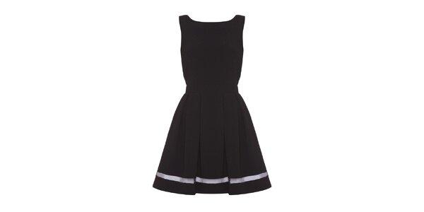 Dámské černé šaty se zavazováním Iska