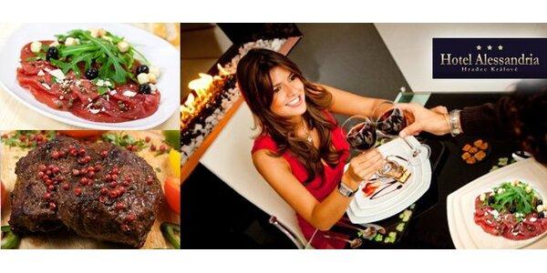 396 Kč za steakové menu pro DVĚ osoby.