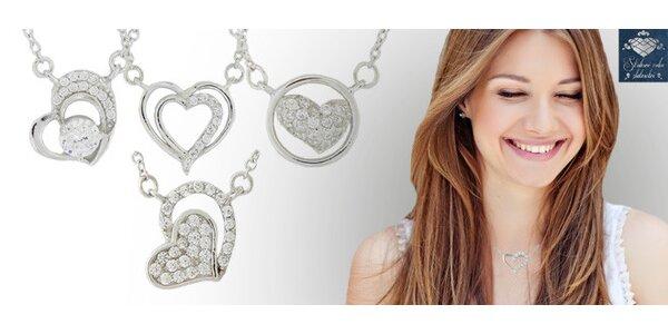 Stříbrné náhrdelníky se zirkony