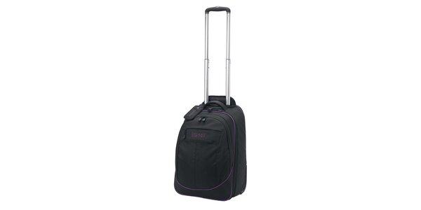 Černý/fialový batoh na kolečkách ESPRIT
