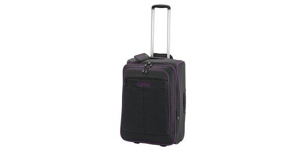 Kufřík s fialovým lemováním na kolečkách ESPRIT