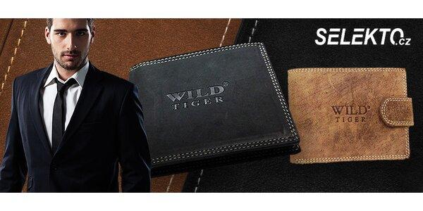 Pánské peněženky Wild Tiger z pravé kůže