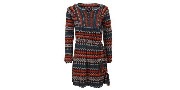Dámské šaty s aztéckým vzorem Sugar Crisp