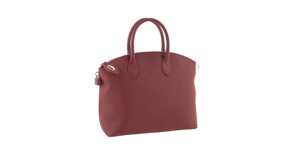 Dámská červená elegantní kabelka Valentina Italy