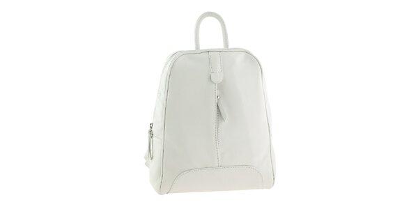 Dámský bílý kožený batoh Valentina Italy